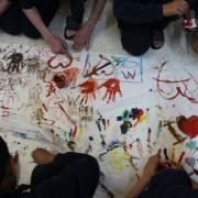 من إحدى مبادرات المجتمع المدني التي تستهدف الأطفال في دمشق - ريم تكريتي