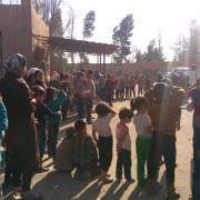 من أحد مراكز الإيواء في ريف دمشق - أميرة مالك