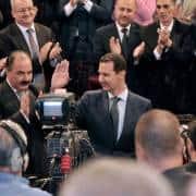 الرئيس السوري بشار الاسد في مجلس الشعب